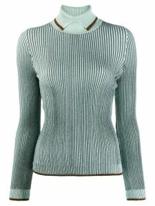 Marco De Vincenzo rollneck ribbed knit sweater - Blue