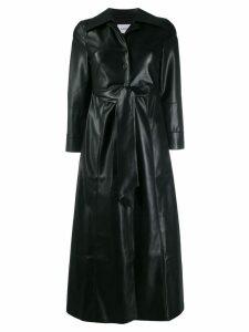 Nanushka Tarot vegan leather tie-front dress - Black
