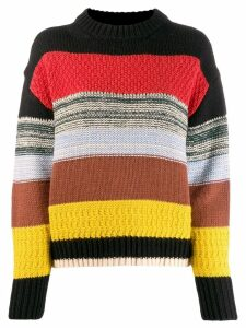 Essentiel Antwerp striped knitted jumper - Black