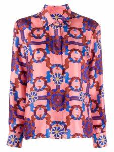 Odeeh printed silk shirt - Pink