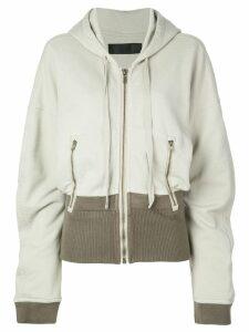 Haider Ackermann contrast detail hoodie - NEUTRALS