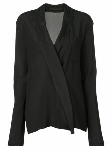 Haider Ackermann double-breasted shirt - Black