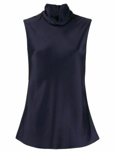 Maison Rabih Kayrouz sleeveless turtleneck top - Blue