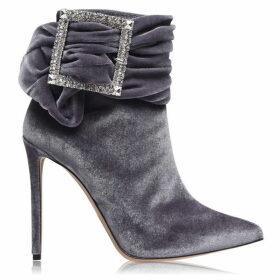 Alexandre Vauthier Yasmine Velvet Heeled Boots