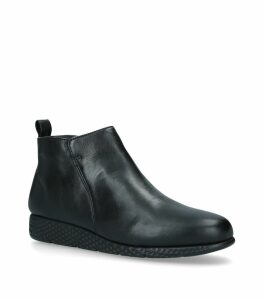 Leather Cooper Ankle Boots