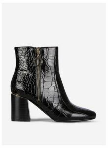 Womens Black 'Alive' Zip Boots, Black