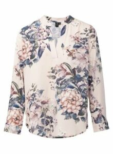 Womens *Izabel London Pink Floral Print Blouse- Light Pink, Light Pink