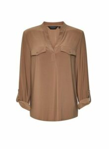 Womens Camel 'Ity' Jersey Shirt- Brown, Brown