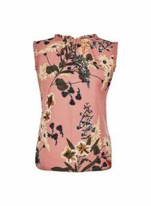 Womens **Billie & Blossom Dusky Pink Frill Shell Top, Pink