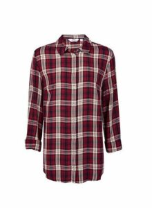 Womens **Tall Red Check Print Shirt, Red