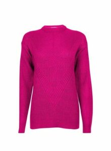 Womens **Tall Fuchsia Acrylic Jumper- Pink, Pink