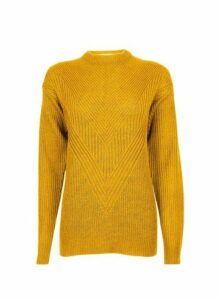 Womens **Tall Yellow Acrylic Jumper- Yellow, Yellow