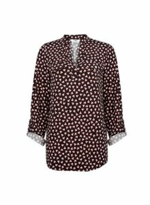 Womens **Tall Black Heart Print Jersey Shirt, Black
