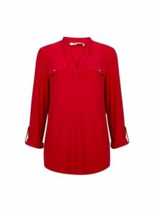 Womens **Tall Red Jersey Shirt- Red, Red