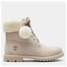 Timberland 6 Inch Shearling Boot For Women In Light Pink Light Pink, Size 3.5