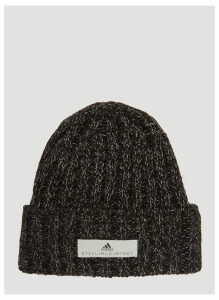 Adidas By Stella McCartney Cable Knit Beanie in Black size One Size