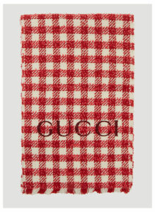 Gucci Tweed Wool Scarf in Red size One Size