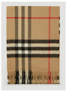 Burberry Vintage Check Knit Scarf in Beige size One Size