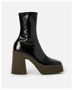 Stella McCartney Black Chunky Ankle Boots, Women's, Size 6.5