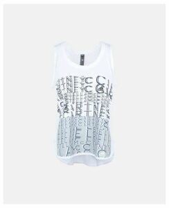 Stella McCartney White White Logo Tank, Women's, Size L