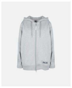 Stella McCartney GREY Grey Essentials Hoodie, Women's, Size L
