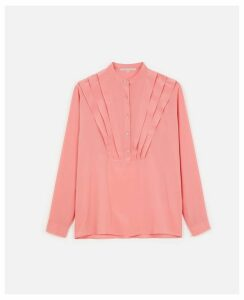 Stella McCartney Pink / Papaya Silk Crepe de Chine Shirt, Women's, Size 10