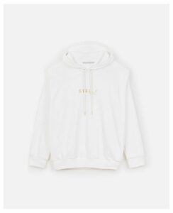 Stella McCartney White Gold Logo Sweatshirt, Women's, Size 14