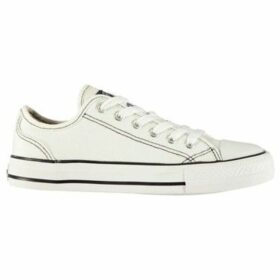 Soulcal  Canvas Low Ladies Shoes  women's Shoes (Trainers) in White