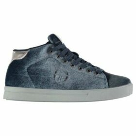Sergio Tacchini  Ladies Velvet High Top Trainers  women's Shoes (High-top Trainers) in Blue