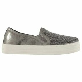 Skechers  Double Up Slip On Trainers Ladies  women's Slip-ons (Shoes) in Silver