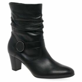 Gabor  Maxie Womens Ruched Leg Boots  women's Mid Boots in Black