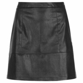 Rock And Rags  PU Shine Skirt  women's Skirt in Black