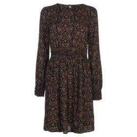 Full Circle  Print Dress Ladies  women's Dress in Brown