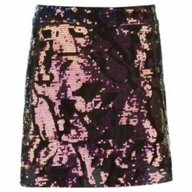Golddigga  Velvet Sequin Skirt Ladies  women's Skirt in Multicolour