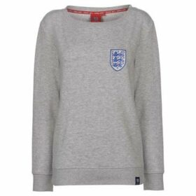 Fa  England Crew Neck Sweatshirt Ladies  women's Sweatshirt in Grey