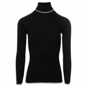 Aa Platinum  Ladies Polo Neck  women's Sweater in Black
