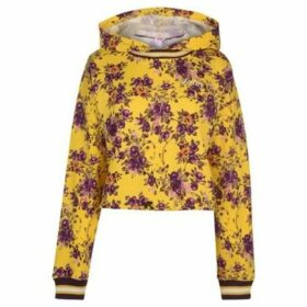 Juicy  Cinched Hoody Ladies  women's Sweatshirt in Yellow