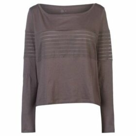 Reebok Sport  Mesh Long Sleeve Top Ladies  women's Blouse in Grey
