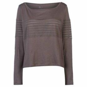 Reebok Sport  Mesh Long Sleeve Top Ladies  women's Blouse in Grey