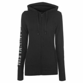 Calvin Klein Jeans  Zip Logo Hoody Ladies  women's Sweatshirt in Black