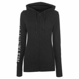 Calvin Klein Jeans  Zip Logo Hoody Ladies  women's Sweatshirt in Black