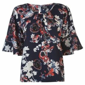 Nvme  Blair Top Ladies  women's Blouse in Blue