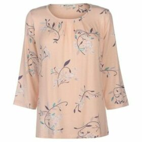M Collection  Printed Top Ladies  women's Blouse in Pink