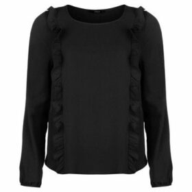 Only  Nova Frill Top  women's Blouse in Black