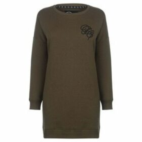 Fabric  Embroidered Sweater Dress  women's Sweatshirt in Green