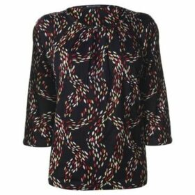M Collection  Printed Top Ladies  women's Blouse in Multicolour