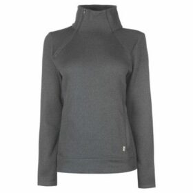 Eastern Mountain Sports  Destination Funnel Zip Pullover Ladies  women's Sweater in Grey