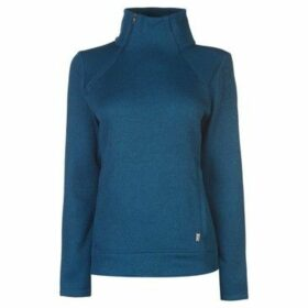 Eastern Mountain Sports  Destination Funnel Zip Pullover Ladies  women's Sweater in Blue