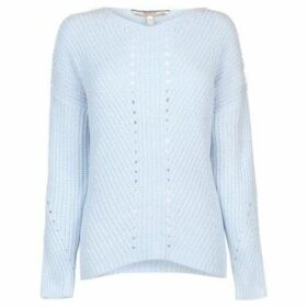 Soulcal  Pointelle Chenille Jumper Ladies  women's Sweater in Blue