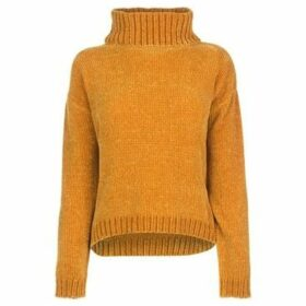 Soulcal  Roll Neck Chenille Jumper Ladies  women's Sweater in Brown